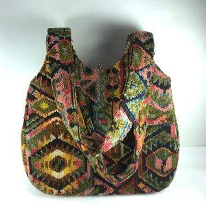 Vintage boho tapestry rug carpet purse